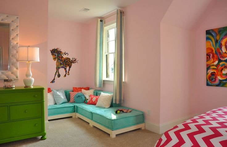 Best Drees Homes Colinas Ii A Girl S Bedroom With Sitting Area With Pictures
