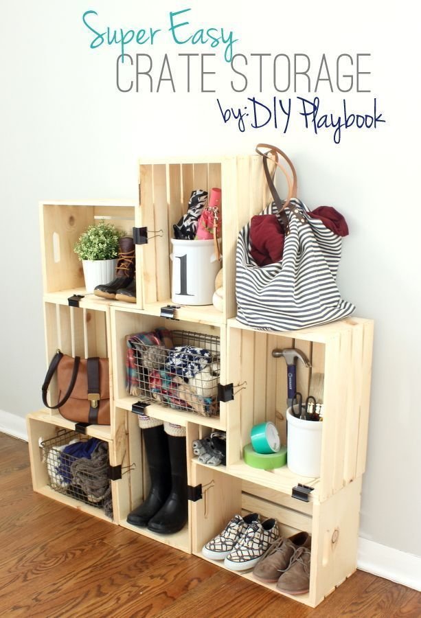 Best Easy Diy Crate Storage Shelves Bloggers Best Diy Ideas With Pictures