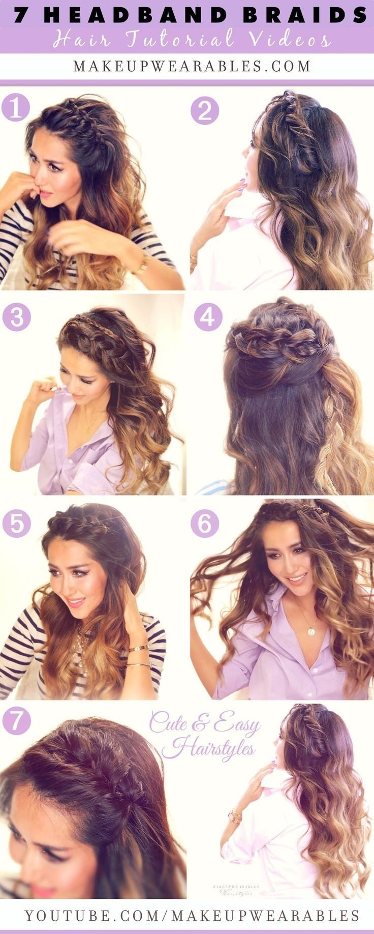 Free 7 Cute Easy Headband Braid Hairstyles To Try In 2015 Wallpaper