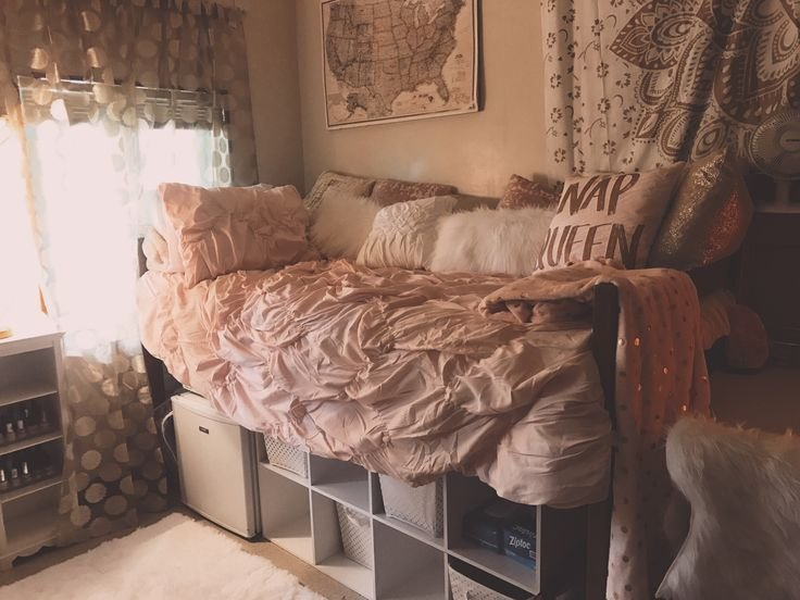 Best Pink White Gold Girls Dorm Wwu Storage Rose Gold Target With Pictures