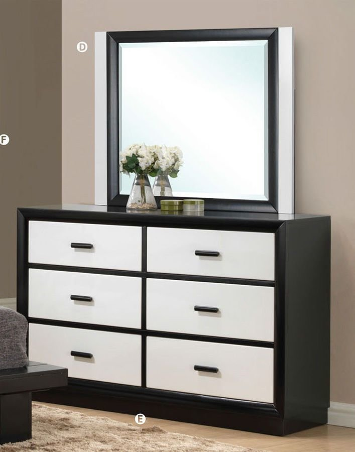 Best Debora Black White Contemporary 6 Drawer Dresser With With Pictures