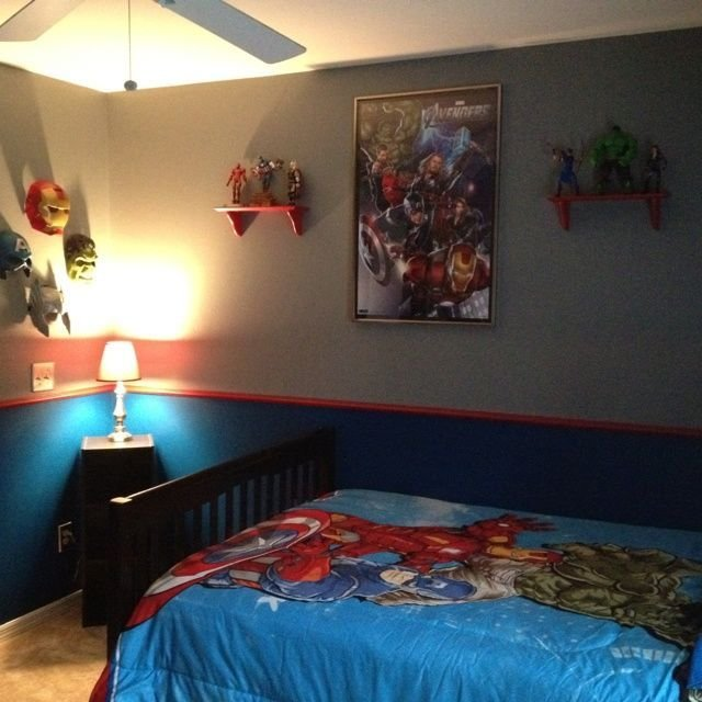 Best Pin By Lisa Seaboyer On Parkers Room Decor Avengers Room With Pictures