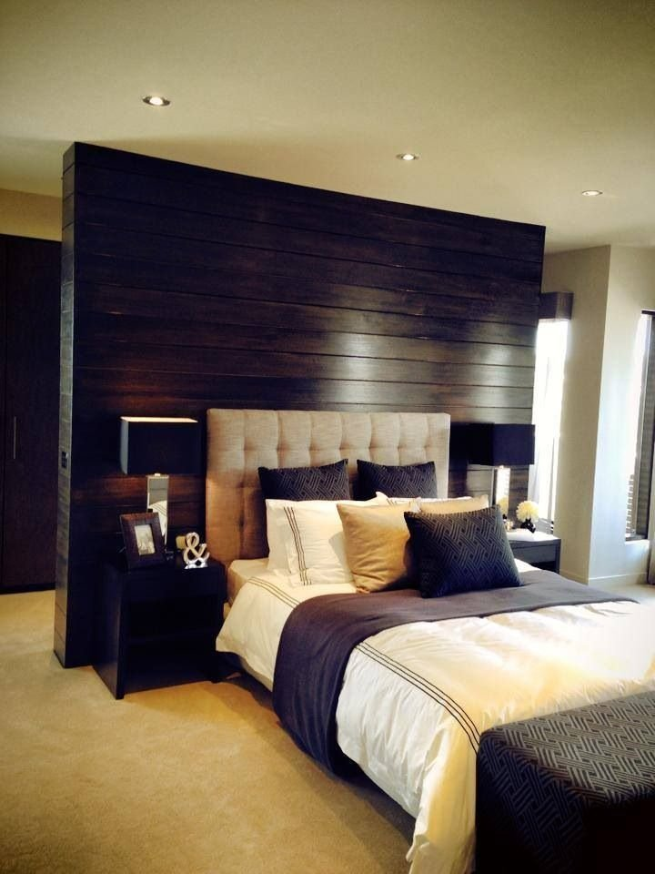 Best Beautiful Bedroom Love The Timber Feature Wall Behind The With Pictures