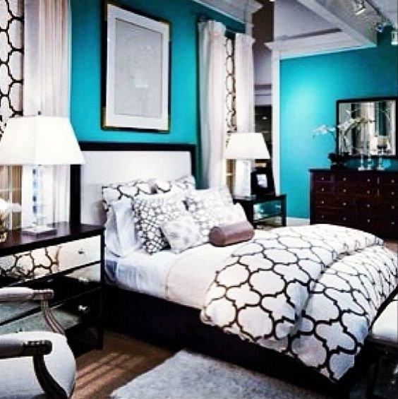 Best 22 Best Black White And Teal Bedroom Images On With Pictures