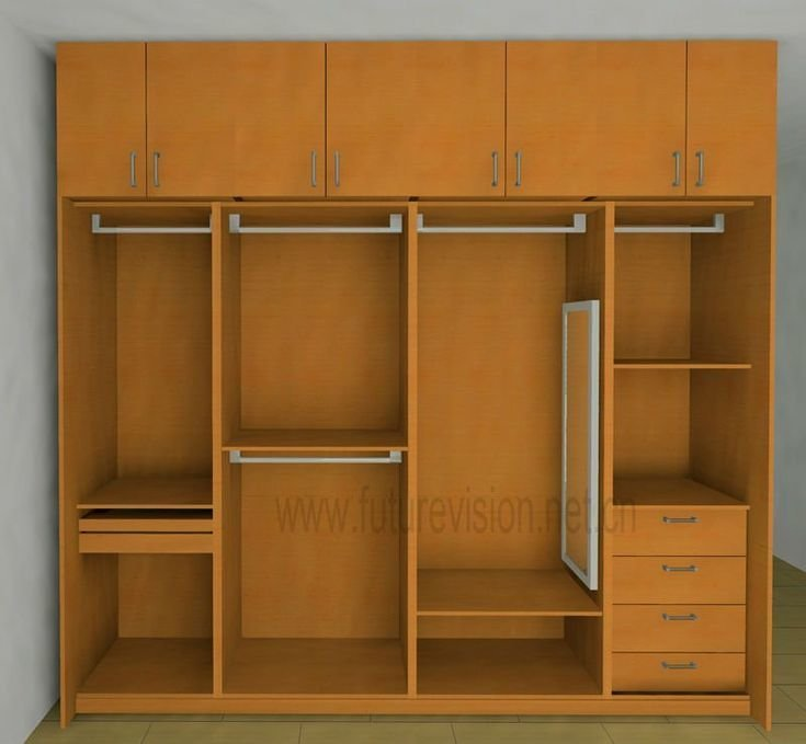 Best Modern Bedroom Clothes Cabinet Wardrobe Design El 300W With Pictures