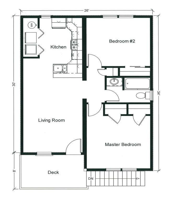 Best 2 Bedroom Bungalow Floor Plan Plan And Two With Pictures