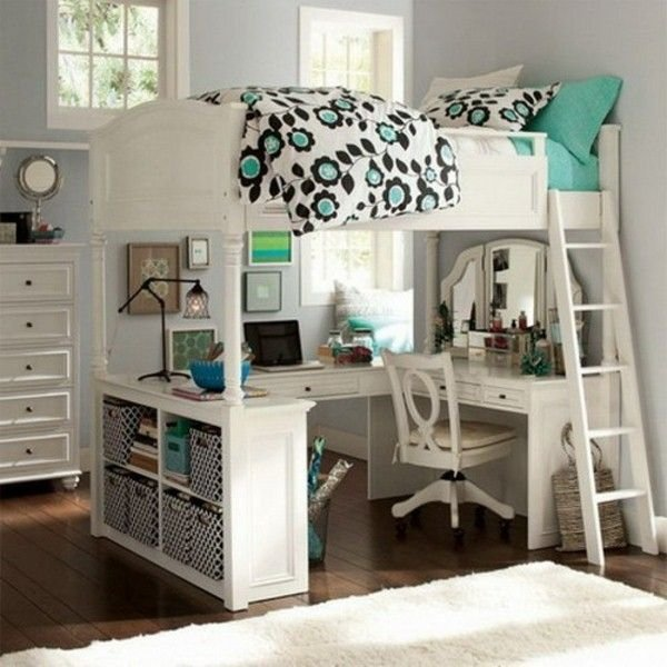Best Awesome Loft Beds With Desk For Teens Resized Loft With Pictures