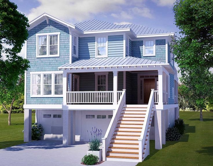 Best Four Bedroom Beach House Plan 15009Nc Beach Low With Pictures