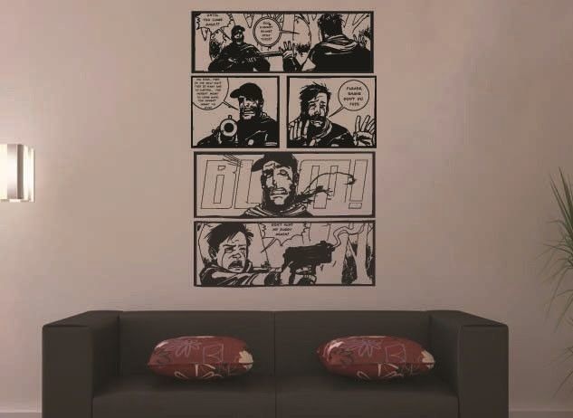 Best The Walking Dead Comic Str*P 5 Panel Wall Art Stickers With Pictures
