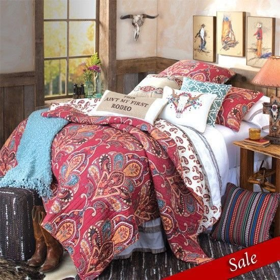 Best Ain T My First Rodeo Quilted Bedding Cowgirl Bedroom With Pictures