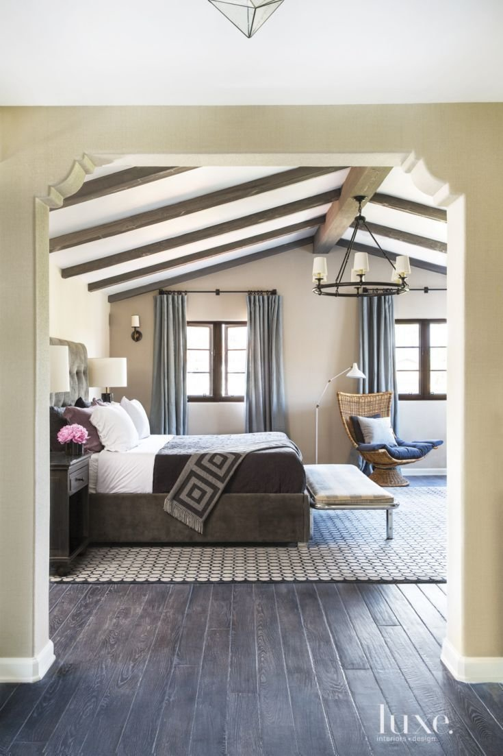 Best Spanish Colonial Neutral Bedroom With Vintage Bench With Pictures