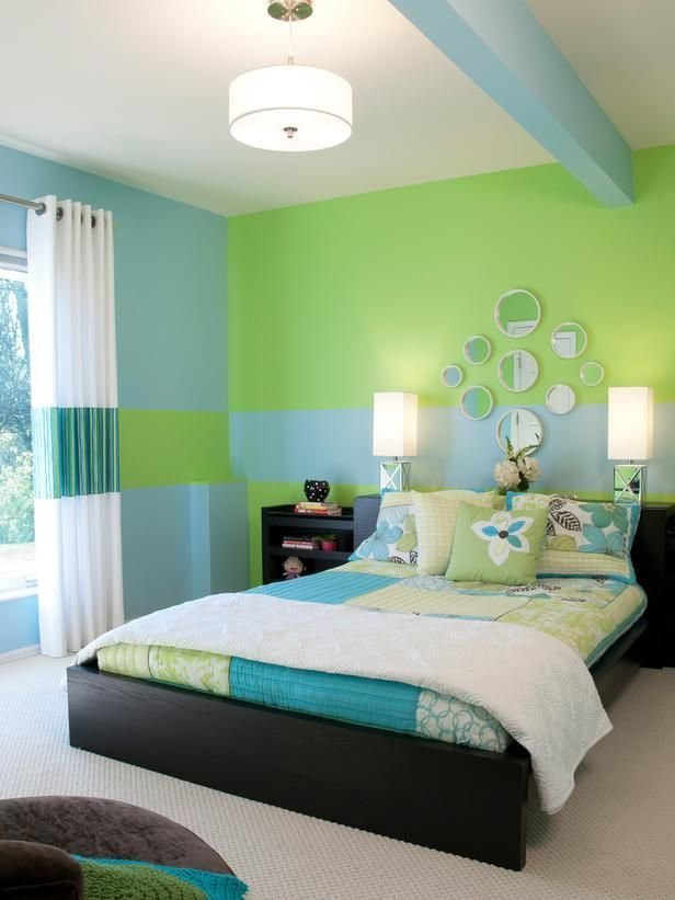 Best Green And Blue Kids Room Creative Wall Murals For Kids With Pictures
