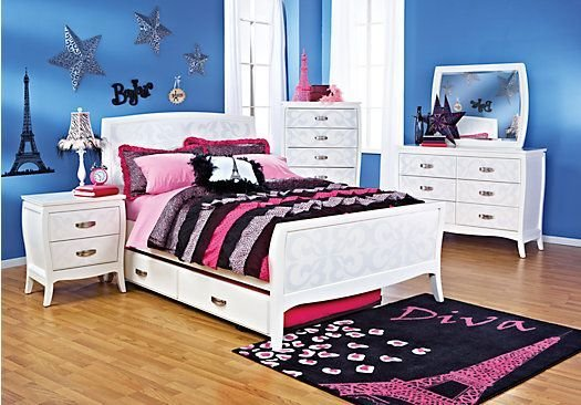 Best Belle Noir White 5 Pc Full Bedroom In 2019 Home Decor With Pictures