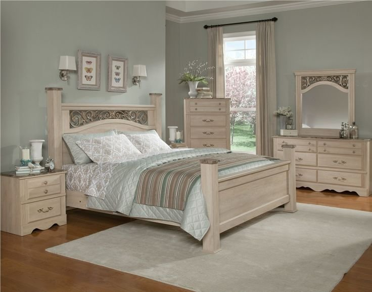 Best Standard Furniture Torina Poster Bedroom Set In Light With Pictures