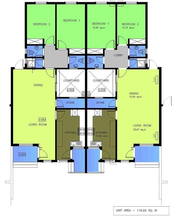 Best House Plans For 2 Bedroom Semi Detached Bungalow Google With Pictures