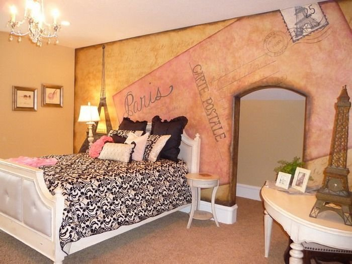 Best Kids Room Outstanding Paris Wall Painting In Small Bedroom Cool Diy Teenage Bedroom Decor With Pictures