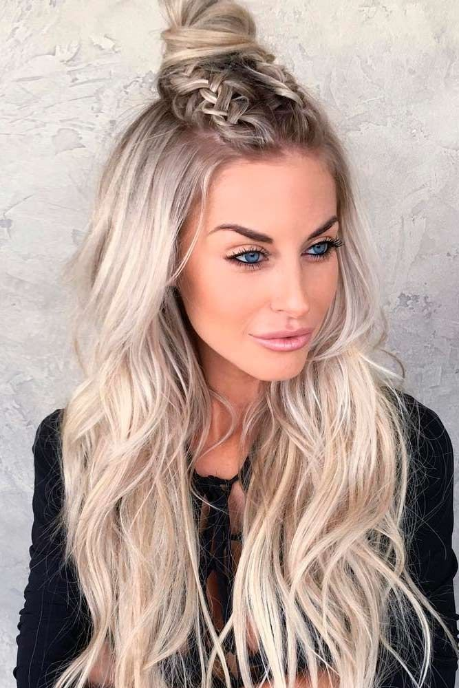 Free 18 Nice Holiday Half Up Hairstyles For Long Hair Wallpaper