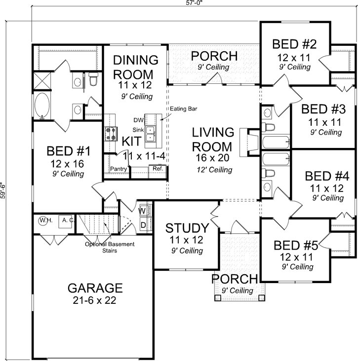 Best Craftsman Style House Plans 1988 Square Foot Home 1 Story 5 Bedroom And 3 Bath 2 Garage With Pictures