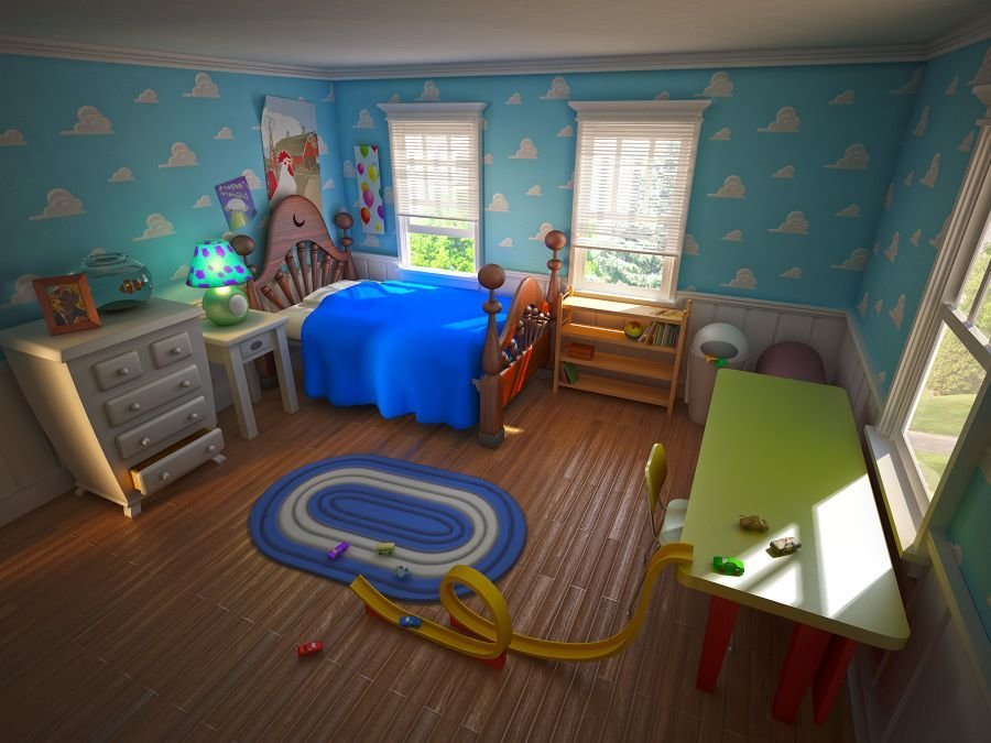 Best Pixar Room 3Ds Max Vray Render Of The Room From Toy Story With Some Other Visual Allusions With Pictures
