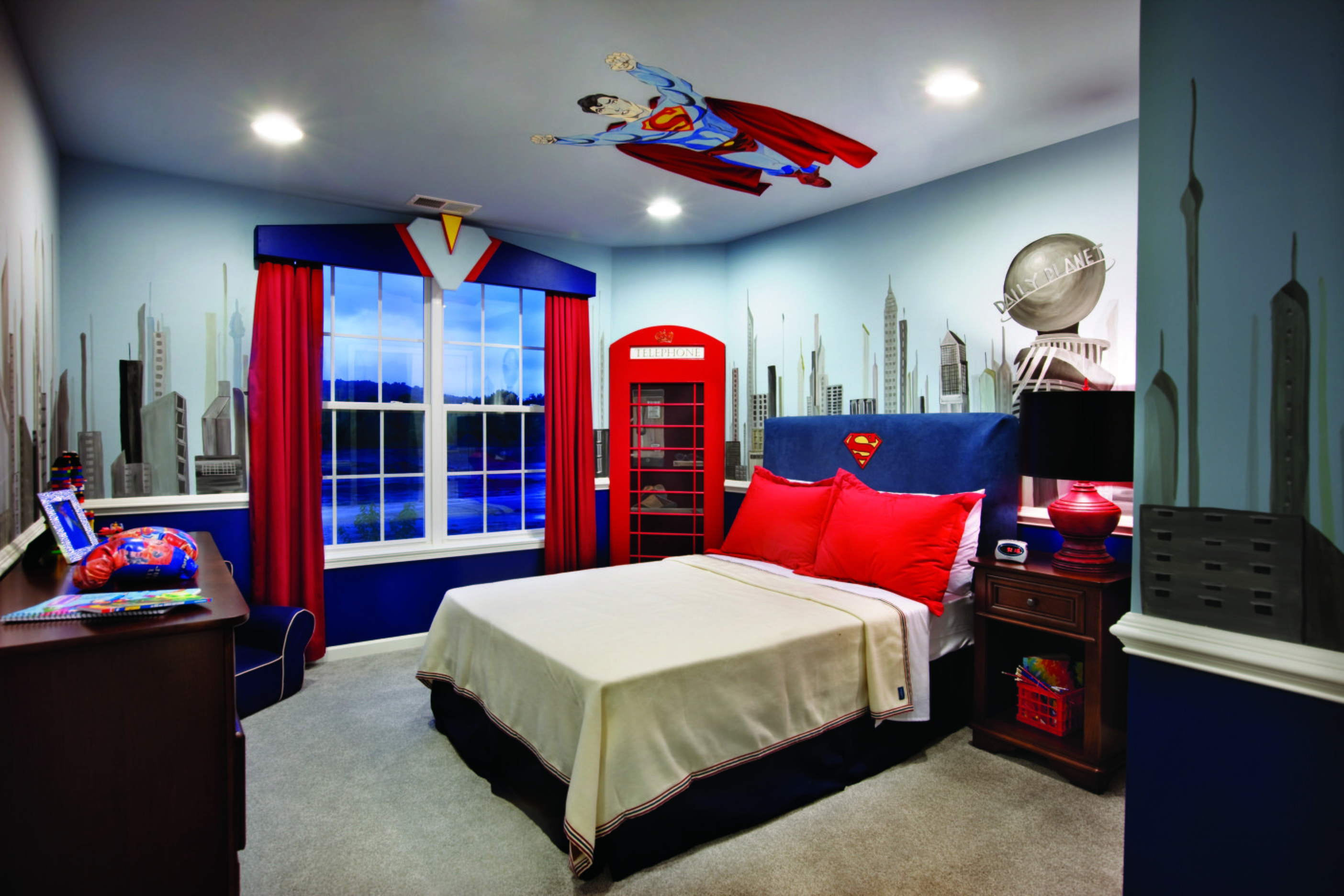 Best Superman Saves The Day In This Super Cool Bedroom With Pictures