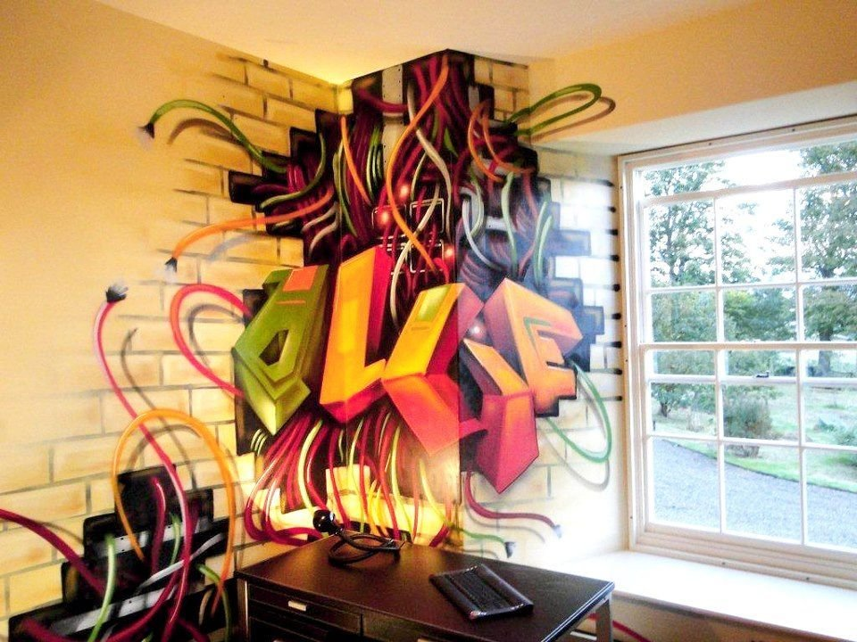 Best Children T**N Kids Bedroom Graffiti Mural Hand With Pictures