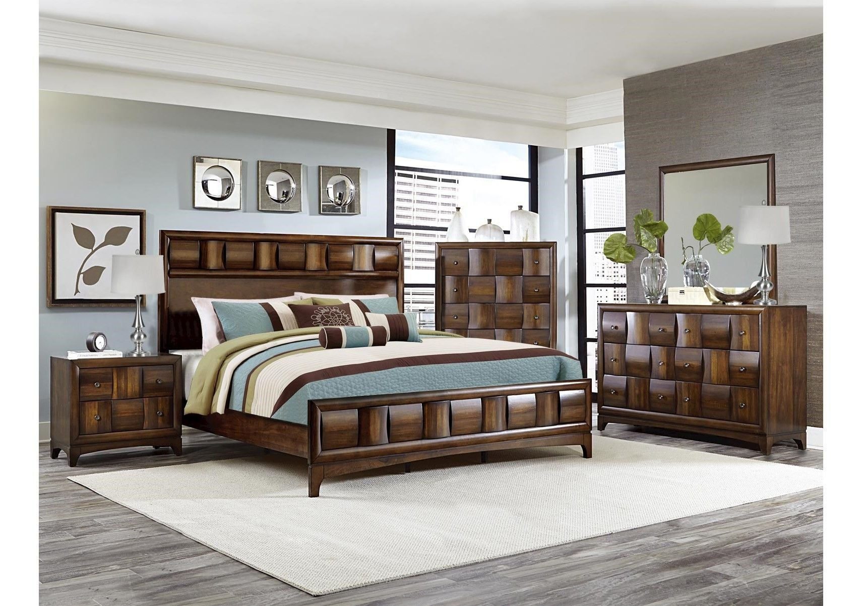 Best Lacks Porter 4 Pc Queen Bedroom Set Transitional Style With Pictures