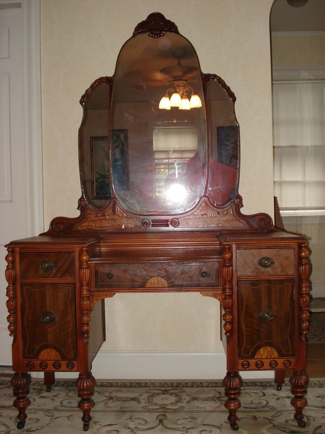 Best Summer Sale Ornate Victorian Vanity Dresser With Mirror With Pictures
