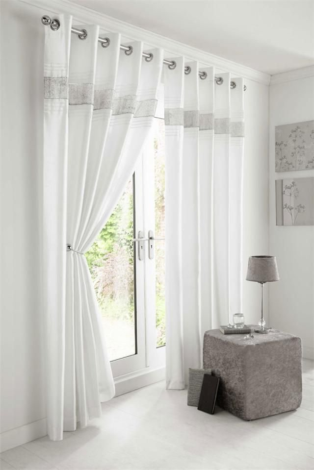 Best Details About New Diamante Faux Silk Lined Curtains With Pictures