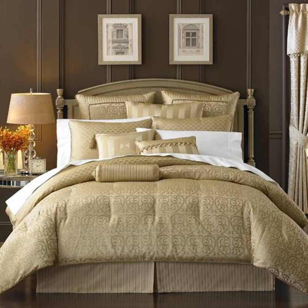 Best Gold Queen Comforter Sets Waterford Bedding With Pictures