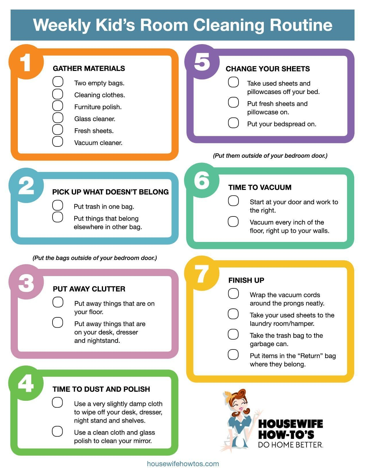 Best Weekly Kids Bedroom Cleaning Checklist Really Good Step With Pictures
