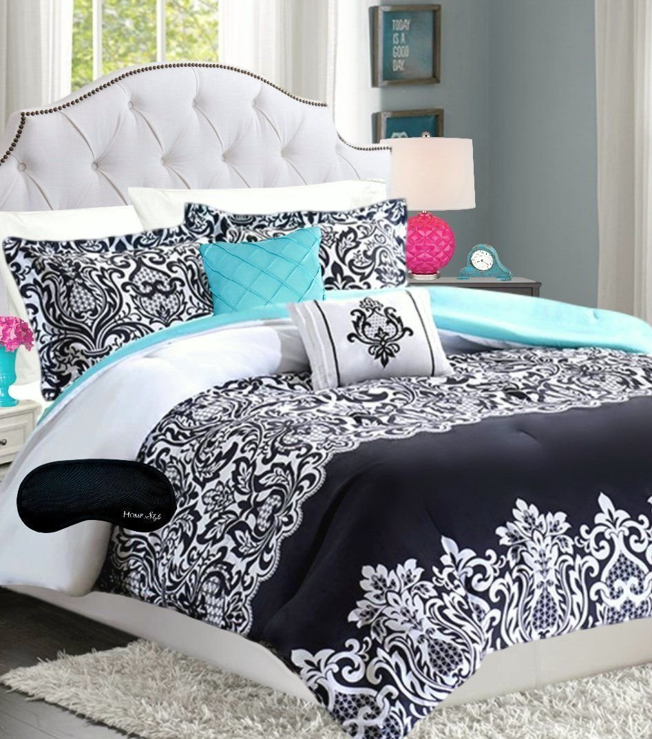 Best Black Pinch Pleat Comforter Set Bedding T**N Girl With Pictures