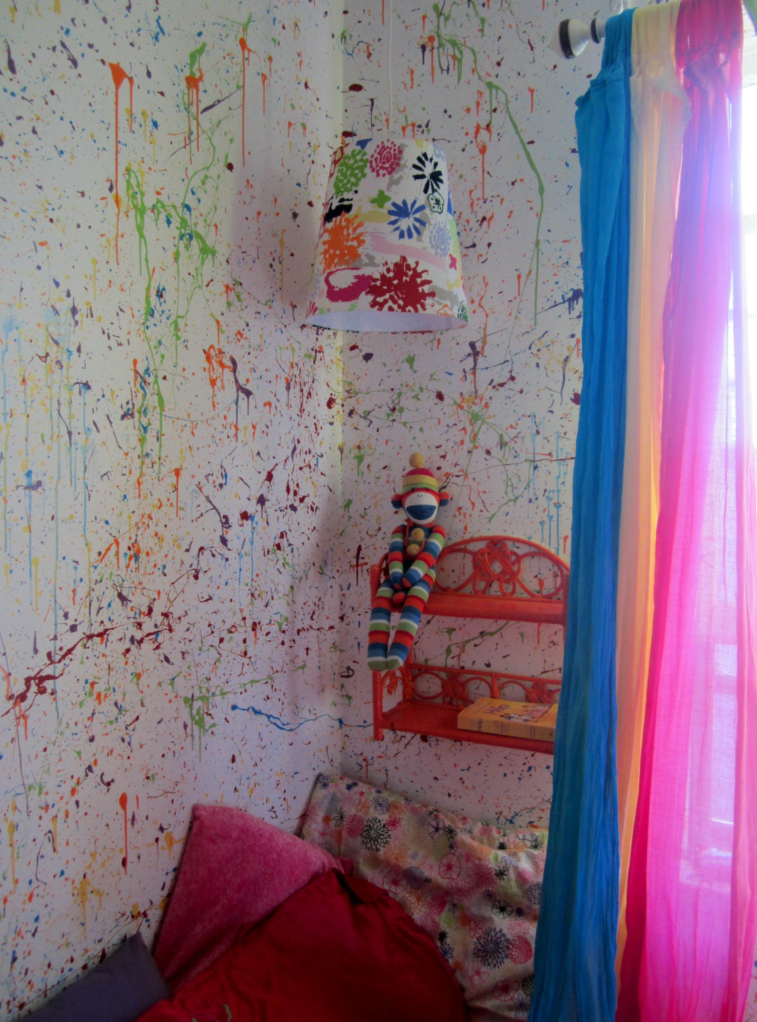 Best Splatter Walls In My Daughters Room Painted The Walls With Pictures