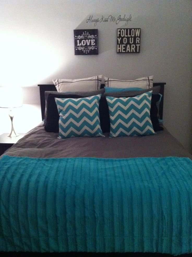 Best Black Gray Teal Bedrooms Teal Grey Black Bedroom With Pictures