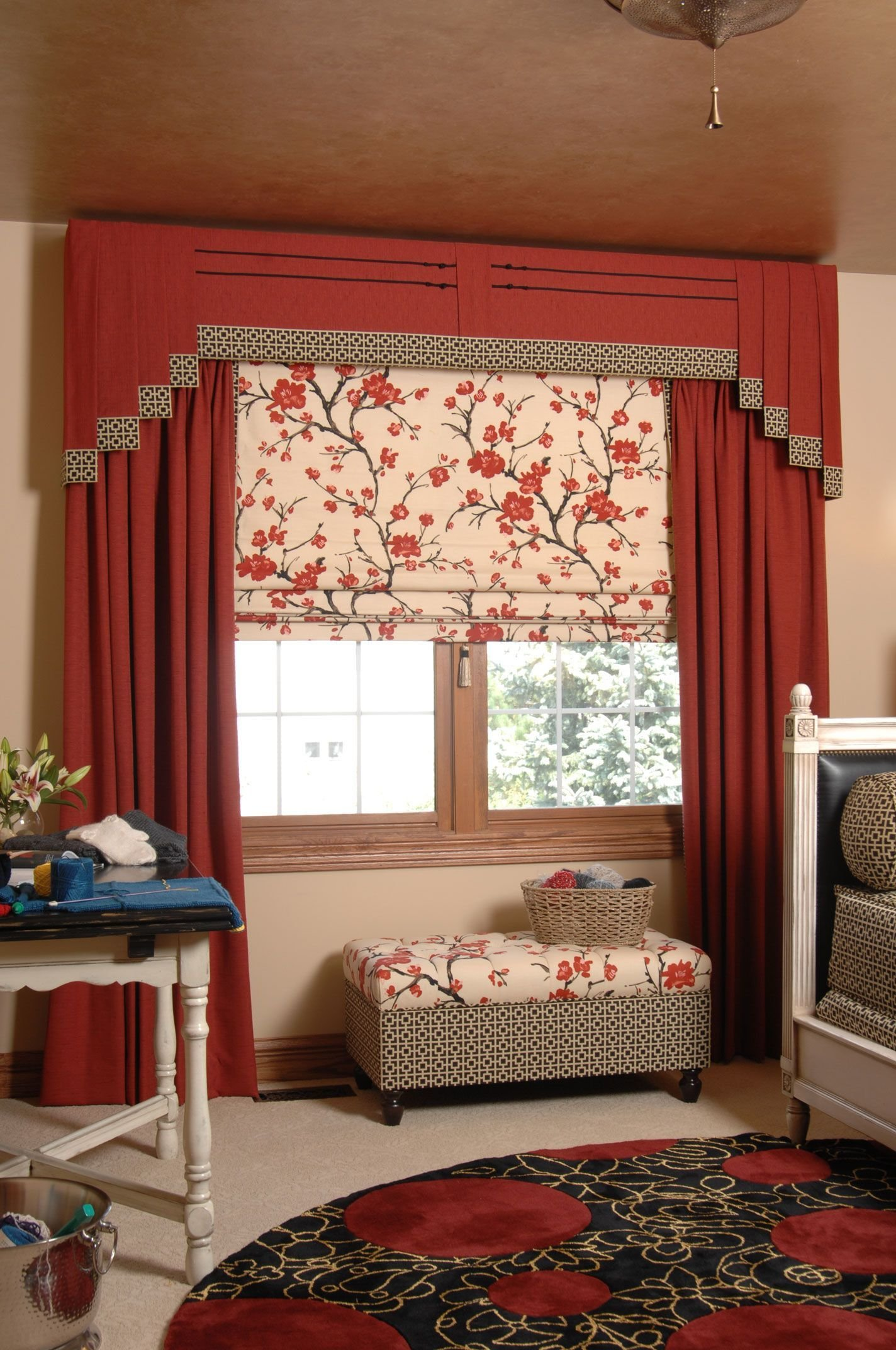 Best Stair Step Valance Fabric On Windows Window With Pictures
