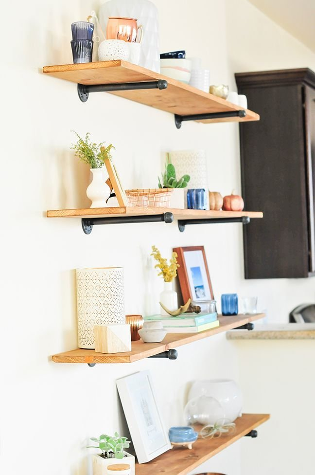 Best The Easiest Diy Industrial Shelving Tutorial Desk Ideas With Pictures