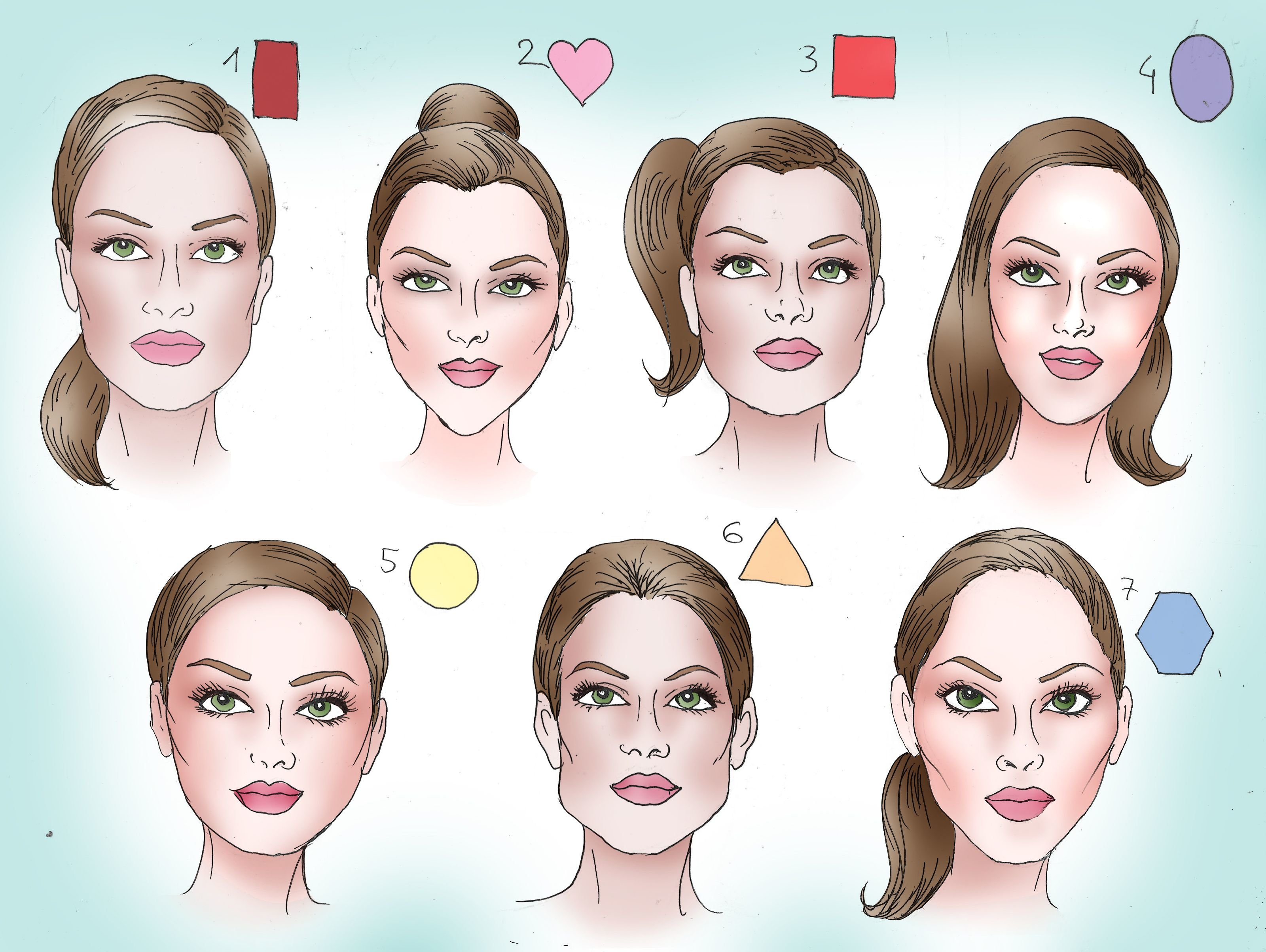 Free Determine Your Face Shape Pins From Our Fans Cortes De Wallpaper