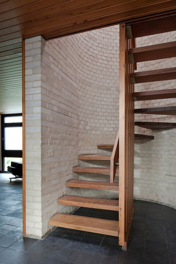 Best Small Staircase Leading From The Kitchen To The Master With Pictures