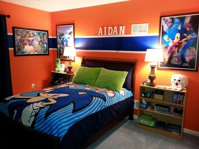 Best Sonic Bedroom Graphic Wall Art And Bedding Add To The With Pictures