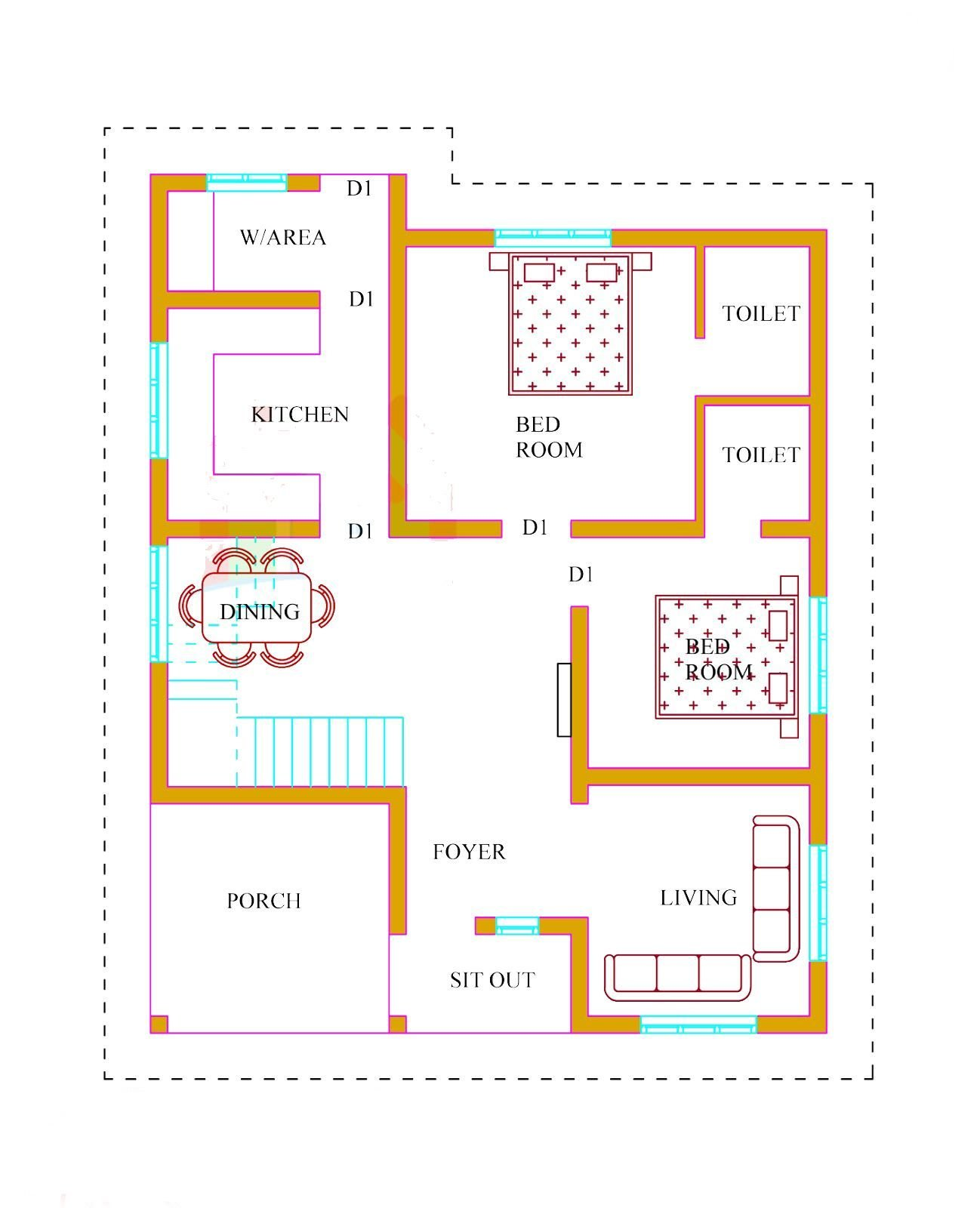 Best Kerala House Plans With Estimate 20 Lakhs 1500 Sq Ft With Pictures