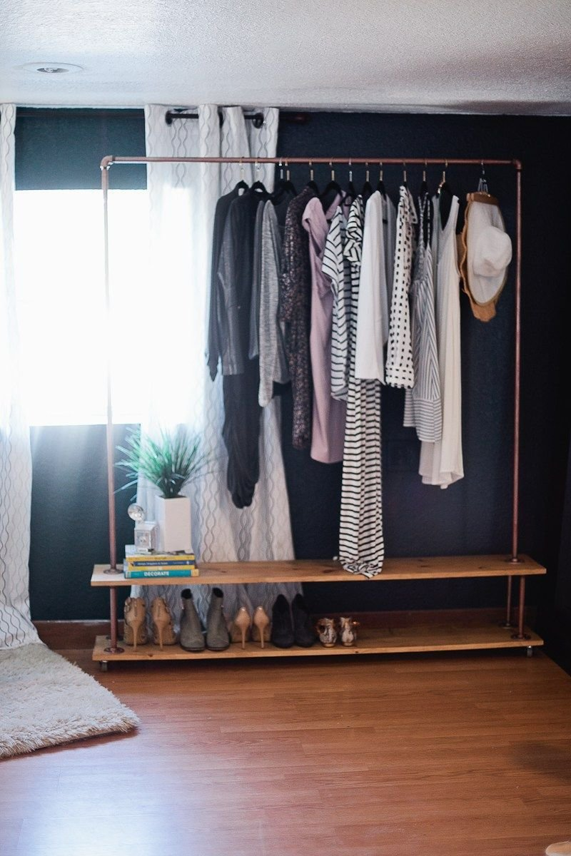 Best Rolling Diy Garment Rack For Your Wardrobe Diy With Pictures