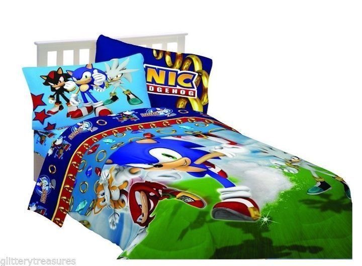 Best Kids Boys Sega Sonic The Hedgehog Reversible Comforter Set Bed In A Bag Kids Comforter Set With Pictures