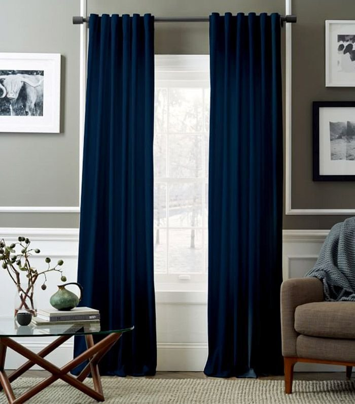 Best Navy Blue Curtains In Living Room For The Home Blue Curtains Living Room Dark Blue Curtains With Pictures