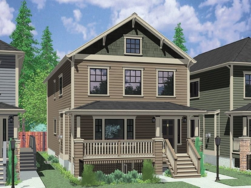 Best Eplans Craftsman Style House Plan – Narrow Plan With Dual With Pictures