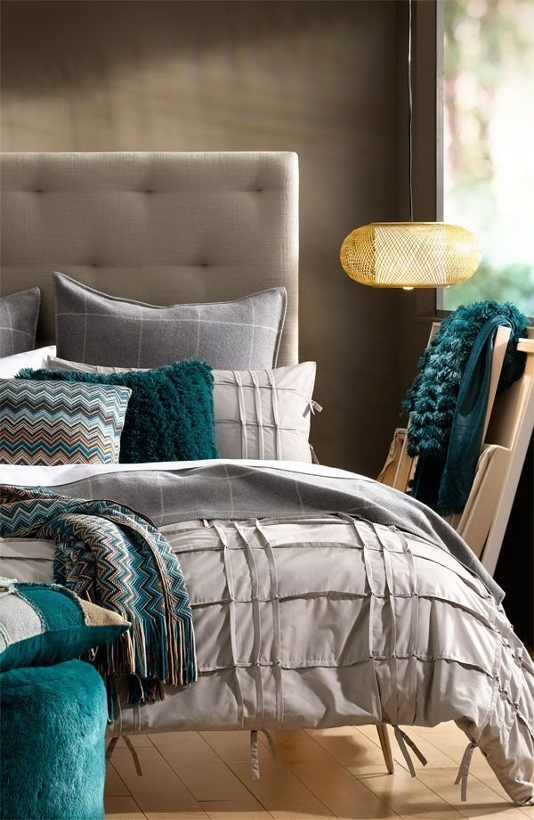 Best Turquoise And Grey Bedroom Master Bedrooms Home With Pictures