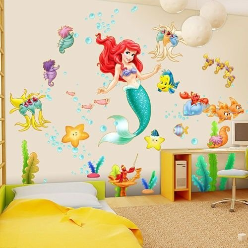 Best Disney The Little Mermaid Ariel Wall Decal Nursery Wall With Pictures