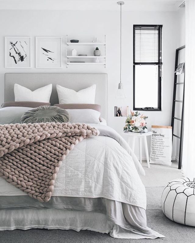 Best Pink Grey Bedroom … Home Decor In 2019… With Pictures