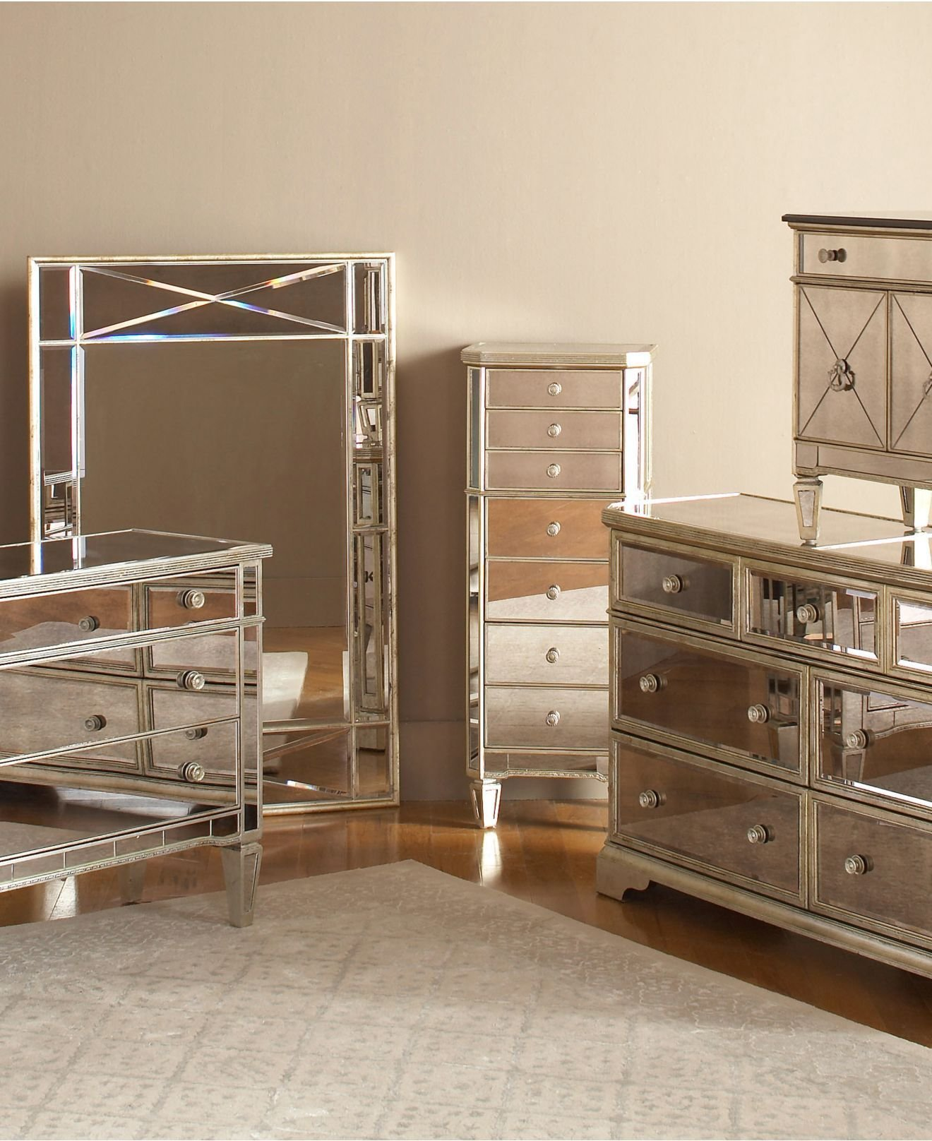 Best Marais Mirrored Furniture Collection In 2019 Reflections With Pictures