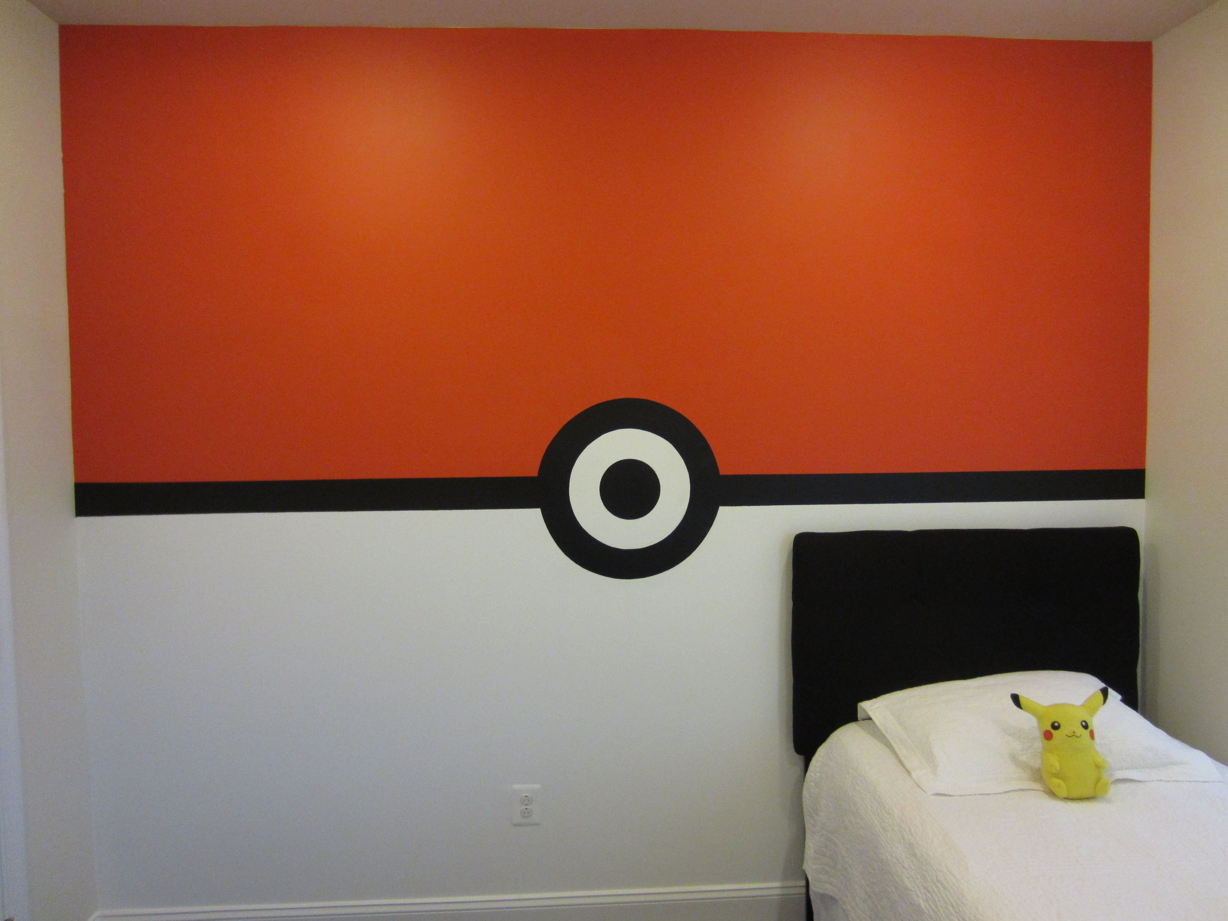 Best Pokemon Pokeball Wall Boys Bedroom This Is How I Painted With Pictures
