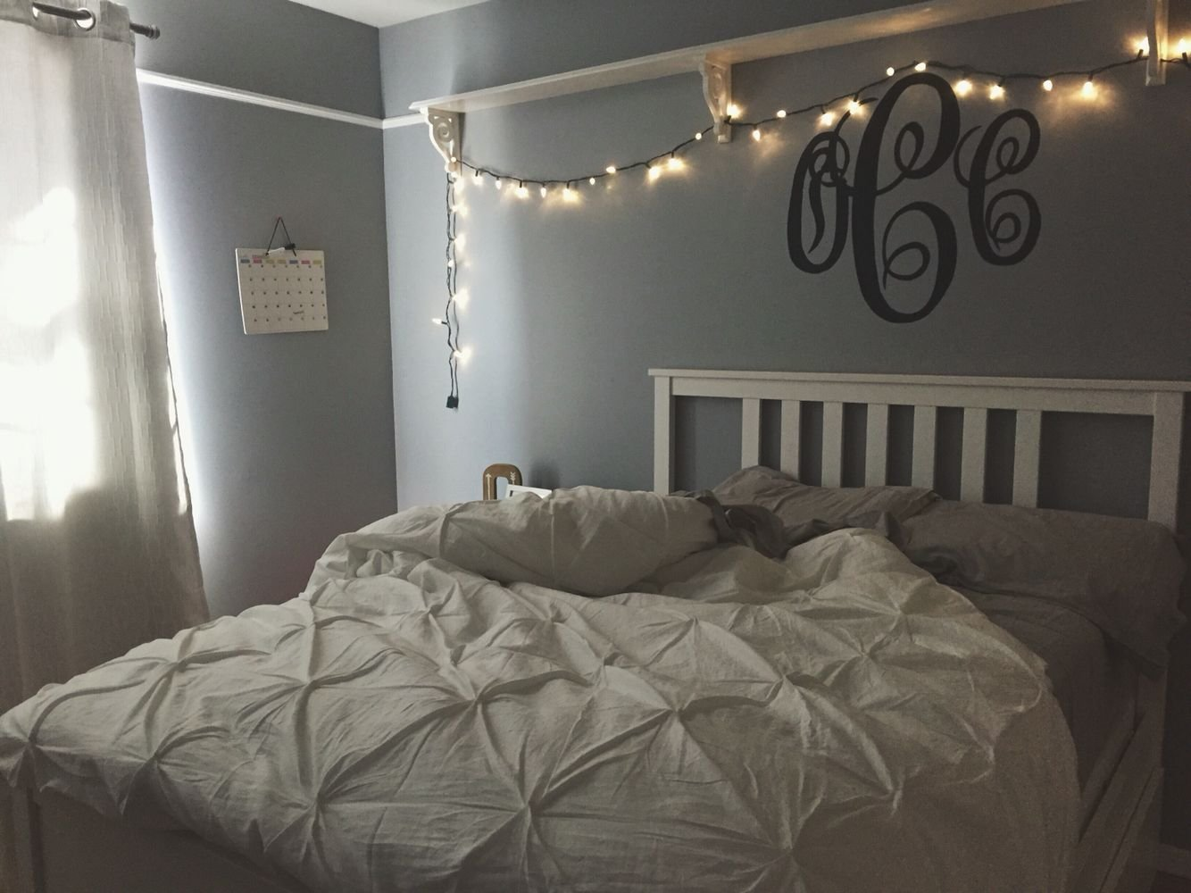 Best My Room Teenage Bedroom Fairy Lights Grey White Bedroom With Pictures