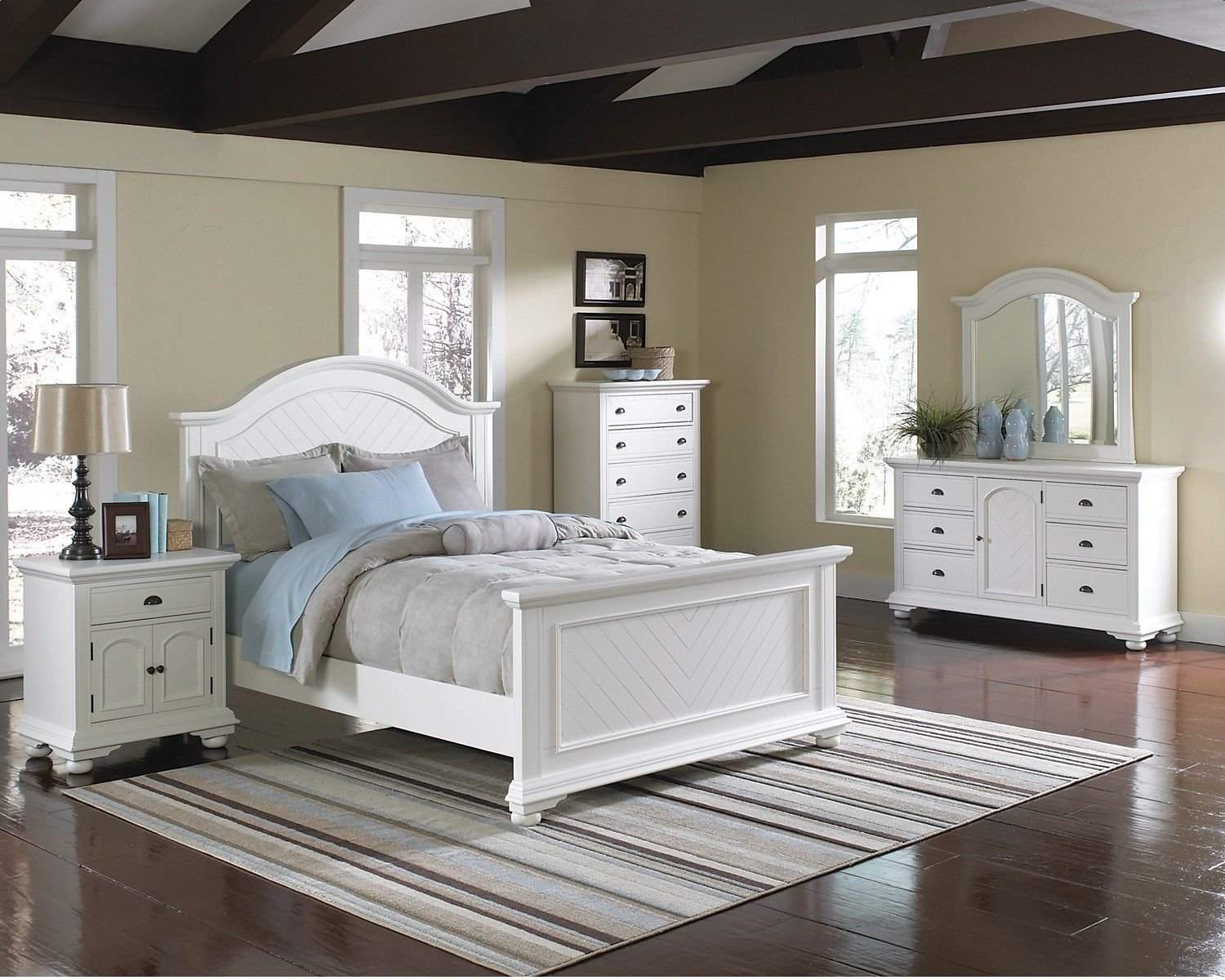 Best Brook Off White 7 Piece Full Bedroom Set The Brick With Pictures